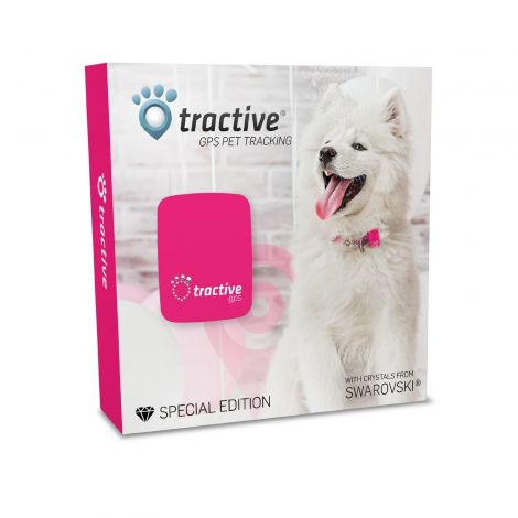 Tractive GPS Special Edition with Crystals Pink (TRAPI1)