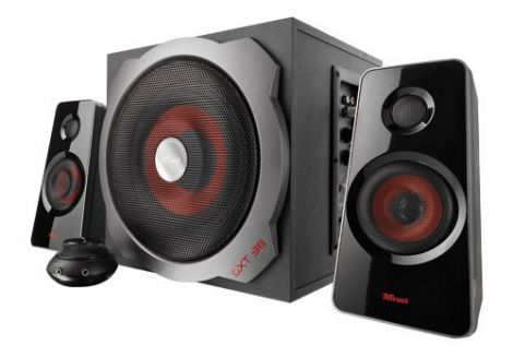 Trust Gaming Speaker Set with Subwoofer 120 W Peak Power Black/Red (GTX38)