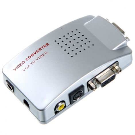 Μετατροπέας VGA In σε SVideo RCA και VGA Out (VT1937)