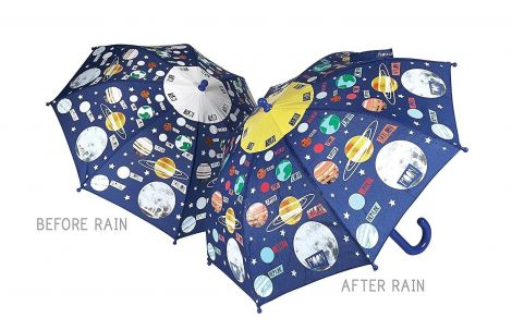 Floss & Rock Colour Changing Umbrella - Universe / Planets Space