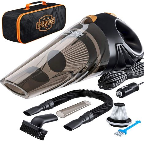 ThisWorx 106Wm, 12v, Corded, Portable Vacuum Cleaner - TWC-01 (Black)