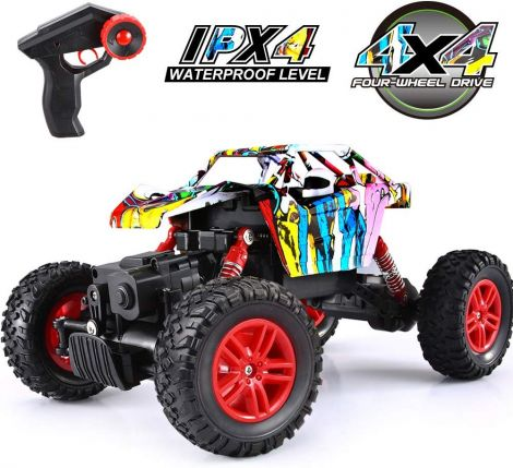 VATOS 1:18 Off Road Remote Control Rechargable 2.4GHz Remote Control Crawlers 4WD High Speed All Terrain Monster Truck