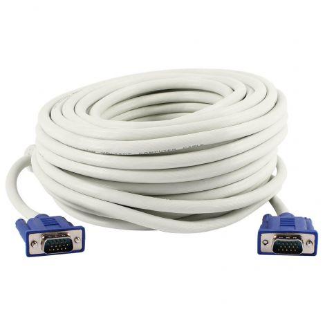 Cable OEM VGA-VGA Ferrite White -18240 (20m)