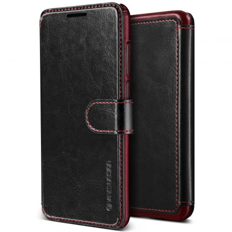 VRS DESIGN Huawei P20 Pro Classy Slim Leather Wallet Case (Layered Dandy - Black)