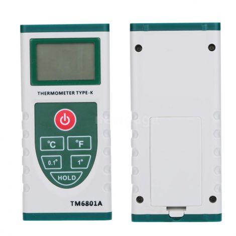 TECMAN LCD Ψηφιακό Θερμόμετρο Πυρόμετρο με Κ Τύπου Καλώδιο (TM6801A)