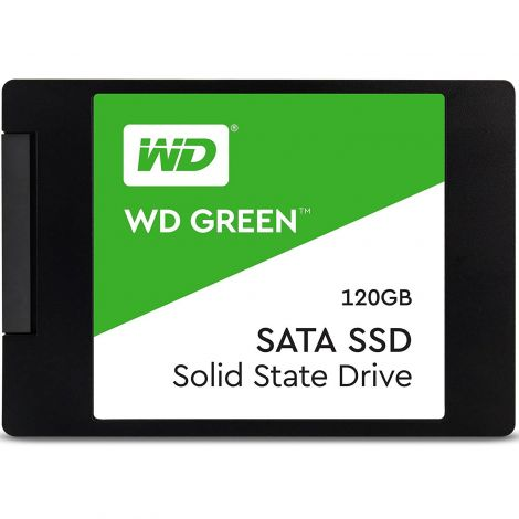 Western Digital WD 120 GB Internal SSD 2.5 Inch SATA, Green (WDS120G2G0A)