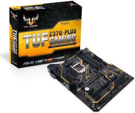 ASUS Intel 1151 Socket Z370 Chipset Tuf Plus Gaming D4 ATX Motherboard - Black