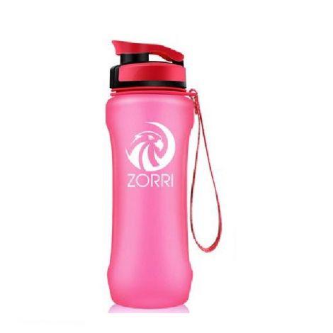 ZORRI Water Bottle BPA Free Leak Proof With Filter & Flip Top Lid Eco-Friendly Pink (600ml)