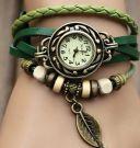 Wristwatch LEAF green