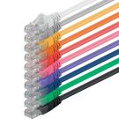 1aTTack 0.5m CAT5 UTP Network Patch Cables Set Twisted Pair with 2 x RJ45 Multicolored (10 pieces)