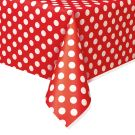 Unique Party 50262 - Plastic Red Polka Dot Tablecloth