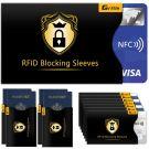RFID/NFC Blocking Sleeve Credit Card Cases (14 Credit Card Holders & 4 Passport Protectors)