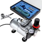 Timbertech Airbrush Kit with Compressor, Double Action Airbrush Gun and Accessories (ABPST05)
