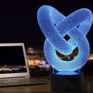 3D Visual Lamp Optical Illusion Led Night Light,Amazing 7 Colors Heart Knot Modern Touch