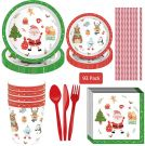 Amycute Set party Christmas for 8 guests (93pcs.)