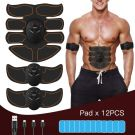 Professional USB Muscle Stimulator Electric Abdominal Trainer (8 Pads) orange