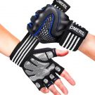 OMERIL Gym Gloves, with Full Wrist Support, size L