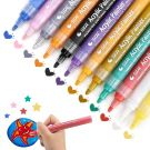 Anyuke Acrylic Colour Art Markers Permanent for DIY Rock Glass, Ceramic, Wood and Canvas, Metal, Fabric (12 Colors)