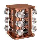 bonVIVO Rondo Rotating Stainless Steel Spice Rack For 12 Spice Jars With Lids