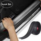 STYLINGCAR Universal Car Door Sill Sticker, Carbon Fibre, Light, Flexible (5cm x 3m)