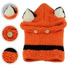 Richoose Child Hood Scarf Fox Hat Knitted Wool (Orange)