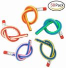 50Pcs Soft Flexible Bendy Pencils Children School Fun Equipment For Party