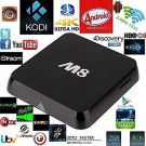 Android TV Box M8 Quad Core Latest 4K HD FULLY LOADED WiFi 5G KITKAT KODI XBMC (63786)
