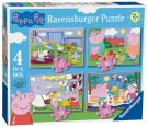 Ravensburger Peppa Pig 4 in a Box (12, 16, 20, 24pc) Jigsaw Puzzles