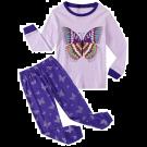 Garsumiss Girls Pyjamas Set Cute Kids Long Sleeve Cotton Pjs Pajama Sleepwear Tops Shirts & Pants Purple/Butterfly (5 years)