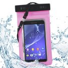Large Waterproof Beach Bag Protective Pouch Case Cover for iPhone/iPod/Phones (Pink)