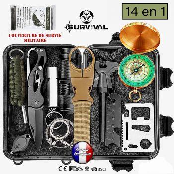 BIOHEALTH PARIS survival kit, survival kit, rescue aid, professional survival kit 14 in 1