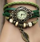 Wristwatch LEAF green