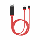 Earldom WS8C CableType C MHL - HDMI + USB, 2.0m, Red (14929)