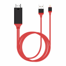 Cable Earldom ET-W5 Lightning MHL - HDMI + USB, 2.0m, Red (1493)