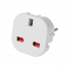 Adapter BX-9625 UK to EU Schuko 220V White (17702)
