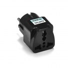 Adapter WD-9 UK/US to EU Schuko 220V Black (17703)