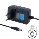 DeTech Adapter 9V/2.0A 5.5x2.5 - Black (219)