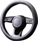 Automix Steering wheel cover leather, soft, non-slip and odourless - 38-40 cm (black)