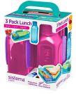 Sistema Lunch Box Trio Pack (pink)