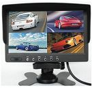 BW 4 Split Quad LCD Screen Display Color Rear View Car Monitor 7 Inch /DC12V-24V