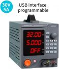HANMATEK DC 30V/5A Lab Power Supply, 6 Sets Storage with PC Software USB Interface (HM305P)