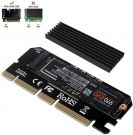 NVME Adapter PCIe x16 with Heat Sink, 6amLifestyle M.2 NVME or AHCI SSD to PCIE 3.0