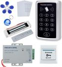 OBO HANDS Full Complete Kit for Door Access Control System T11 Card reader+180KG Magnetic Lock+Power Supply+Exit Button+10pcs ID Key Cards