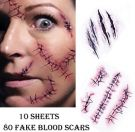 Zombie Scars Tattoos (10 Sheets)
