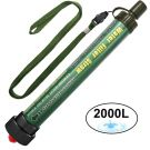 Camping Mini Outdoor Water Filter Straw 2000L