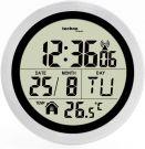 TECHNO LINE WT 3005 DCF Digital Bathroom Radio Wall Clock 147x79mm Plastic Aluminium (Silver)