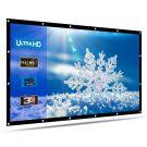 HENZIN Portable 120'' Inch Projector Screen 16:9 HD 4K (White)