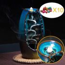 Mountain Incense Holder Handmade Ceramic Aromatherapy Decor Furnace, with 10PCS Cones