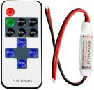 Litaelek Monochrome LED Strip Controller with RF Wireless Remote Control (DC 5 ~ 24V 12A)
