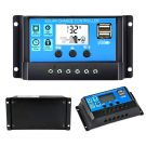 Solar Charger Controller 20A 12V/24V PWM Auto Paremeter Adjustable LCD Display with Dual USB Load Timer Setting ON/Off Hours Solar Regulator
